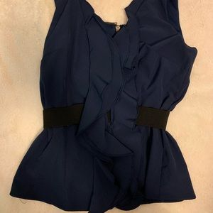 Boutique belted tank
